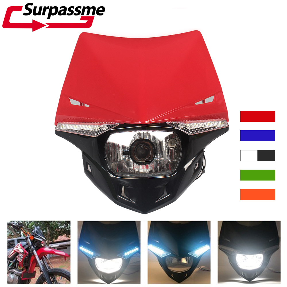 <font><b>Motorcycle</b></font> Headlight Fairing Replaceable Halogen <font><b>Bulb</b></font> Enduro Dirt Bike <font><b>H4</b></font> Head Light for KTM EXC SXF EXC MX SMR <font><b>Motorcycle</b></font> <font><b>LED</b></font> image