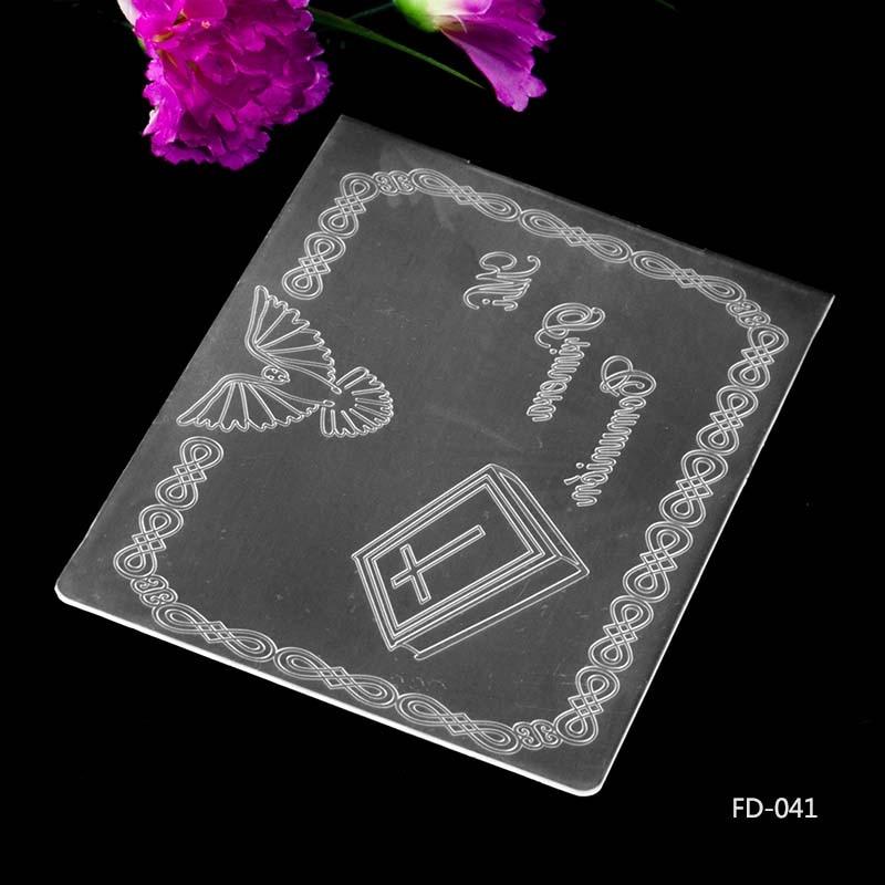 Flower cluster Embossing folders Plastic Embossing Folder For Scrapbooking  BC