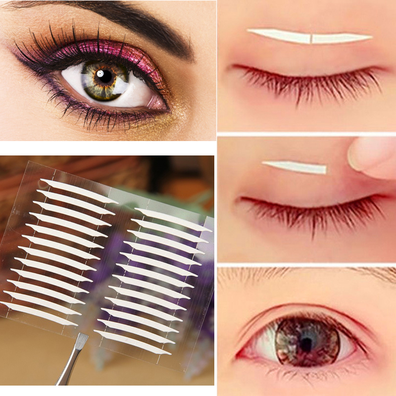 4 Sheets Makeup Tools Kit 3d Stickers Eye Invisible Double