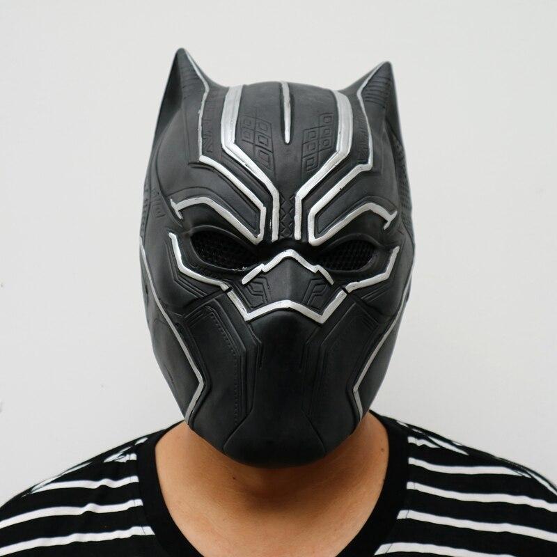 steelmaster captain america panther halloween cosplay mask marvel movie men full head black mask masque helmet - Masque Captain America