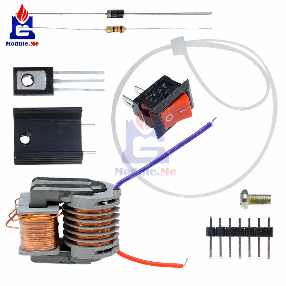 hight resolution of diy kit 15kv high frequency dc high voltage arc ignition generator inverter boost step up 18650
