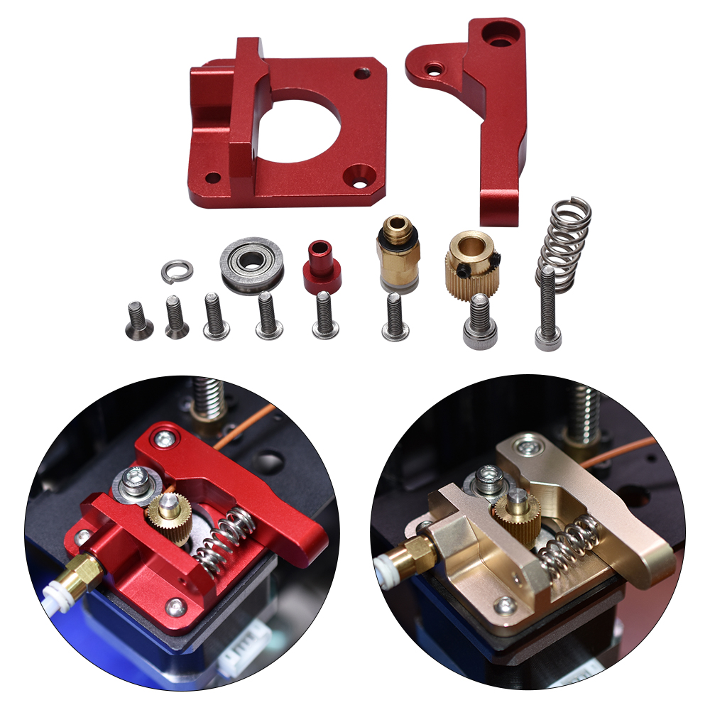 3D Printer Parts MK8 Extruder Upgrade Aluminum Block Bowden Extruder 1.75mm Filament Reprap Extrusion For CR-7 CR-8 CR-10(China)