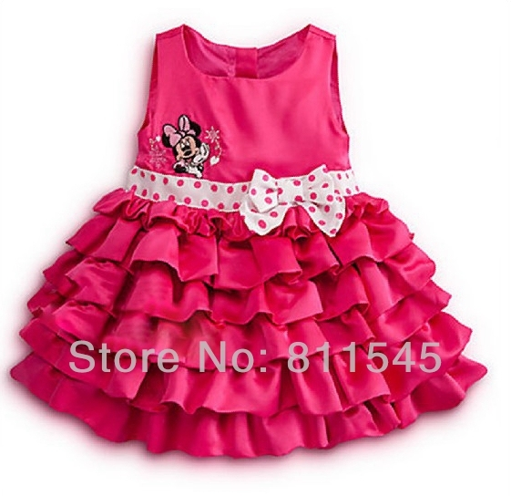Cute Cupcake Princess Girls' Dresses Baby Birthday Party Clothing Fashion 2016 Summer Kid Clothes Children's Wear Toddler Outfit