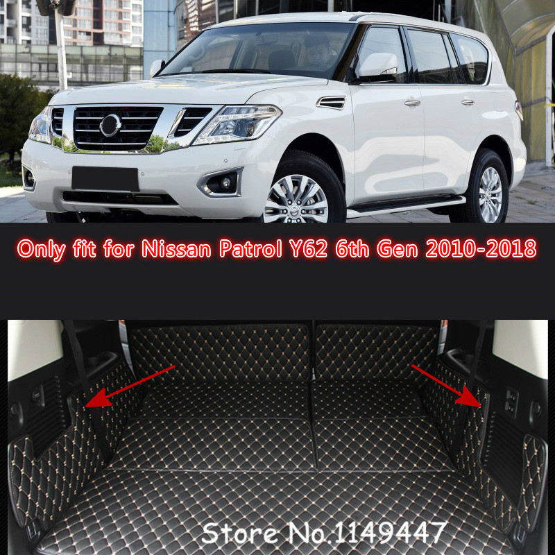 2018 nissan y62. interesting nissan for nissan patrol y62 6th gen 7 seats 2010 2011 2012 2013 14 15 16 17 2018  car styling interior leather rear boot trunk mats in cargo management from  nissan y62