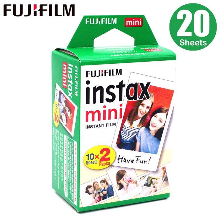 20-100 листов Fuji Fujifilm instax mini 9 8 пленок белые края пленки для мгновенной мини 9 8 7s 25 50s 9 90 камера Sp-2 фотобумага - Цвет: 20 sheets
