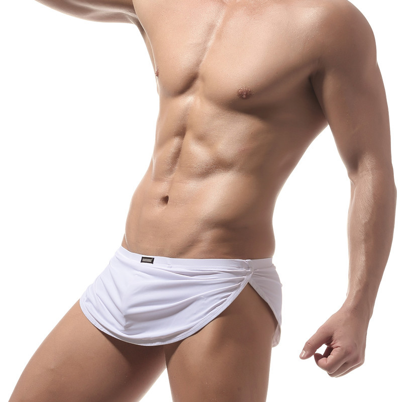 183385ac6f1 Men Novelty Outer Arrow Panties Mens Sexy Inner T Underwear Gay Ice Silk  Boxer Shorts Exotic appeal Sexy Club Underwear 8006AL