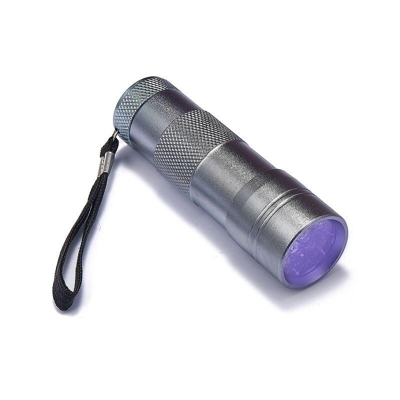 100 шт. мини 12 светодио дный УФ фонарик светодио дный ультрафиолетовый фонарик маркер с невидимыми чернилами фонарь детектор свет AAA УФ лампы Фонари - 2