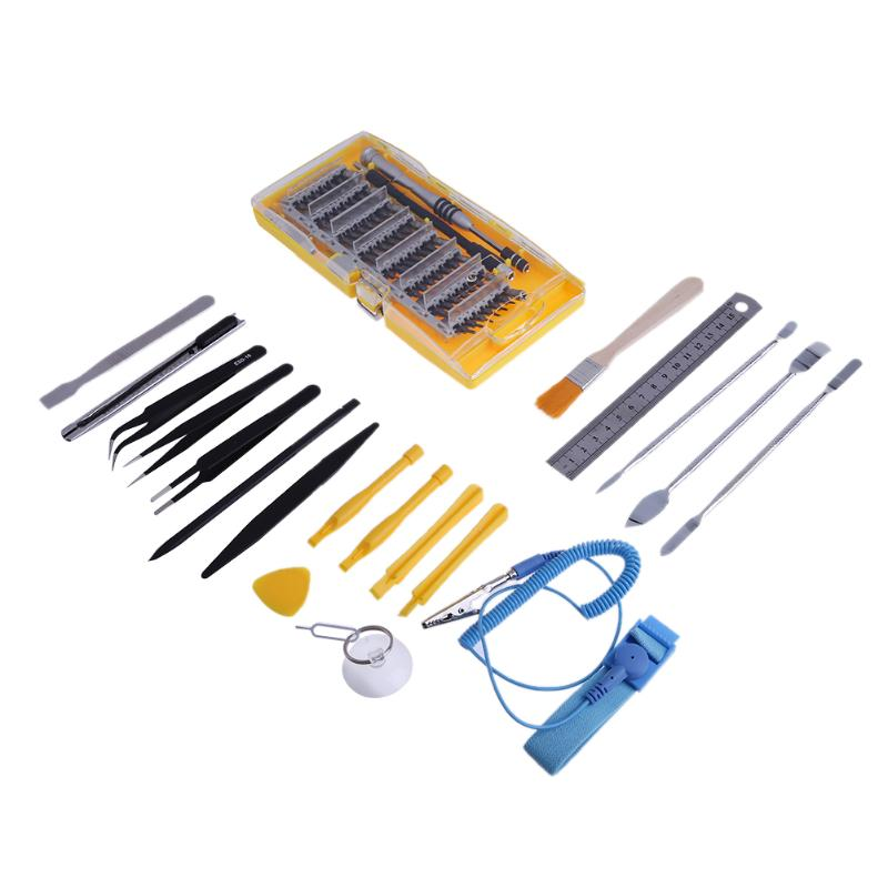 80 in 1 Precision Screwdriver Phone Repair Tools Set Tweezers Kit Screwdriver Crowbars Ruler Brush Phone Tablet Repair Kits jvmac 2408a 16 in 1 toolset screwdriver repair tools kit set