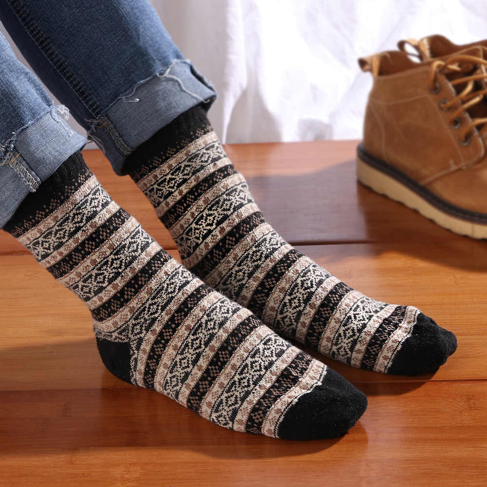 8ebe6f3b8de10 Detail Feedback Questions about 1 Pair Mens Harajuku Style Fashion Soft Thick  Cashmere Casual Socks Rabbit Wool Mixture Yarn Warm Winter Comfortable Socks  ...