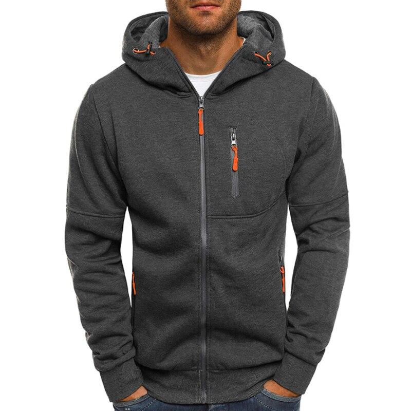 Hoodies Men Zipper Sweatshirt