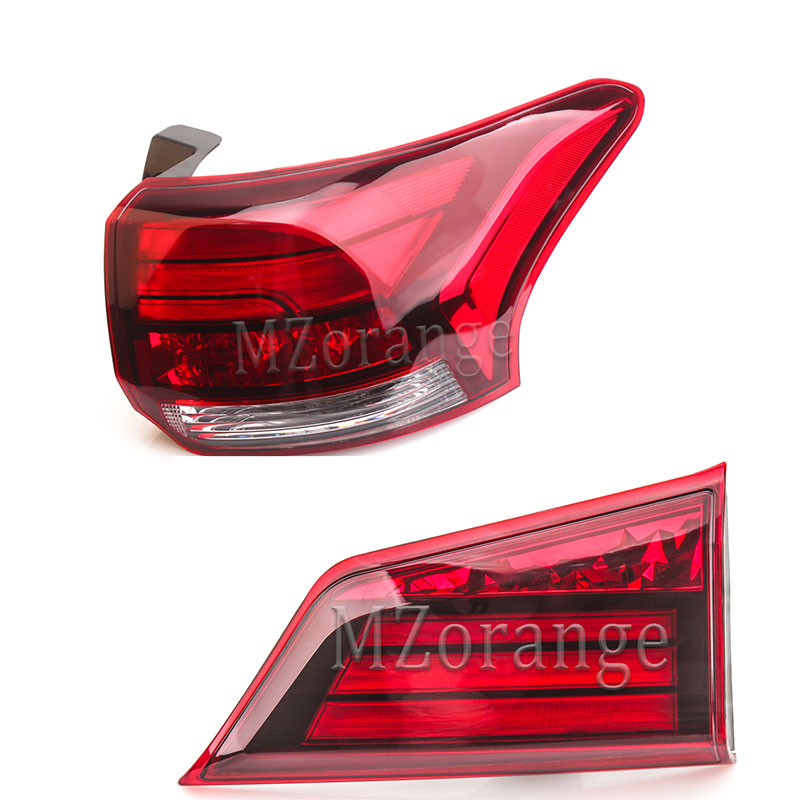 MZORANGE Interior/Exterior Montagem Da Luz Da Cauda para Mitsubishi Outlander PHEV 2016-2018 Lâmpada de Cauda Traseira LED 8330B003 8331A186 de volta Da Lâmpada