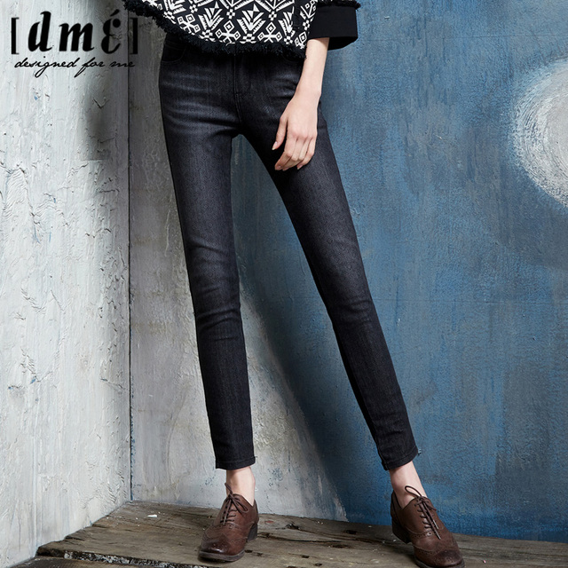Autumn New 2015 Light Black Jeans Woman Casual Skinny Jeans For ...