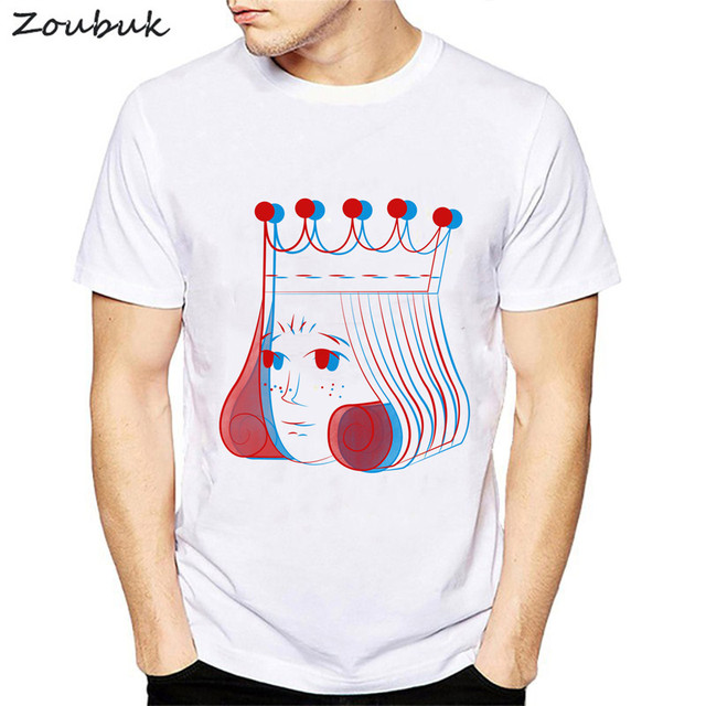 ef0f85f0 Psychedelic Queen printed t shirt men women fractal king design tshirt  summer white short sleeve tops funny tees mens camisetas