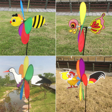 3D Cute Large Animal Bee Windmill Wind Spinner Whirligig Yard Garden Decor New