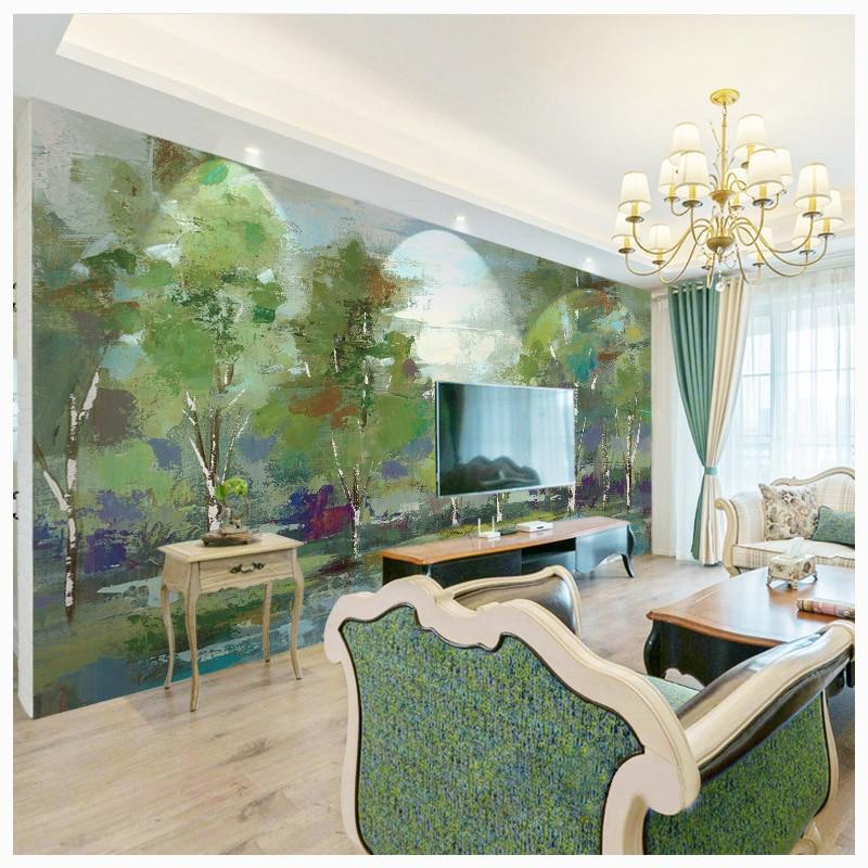 Tuya Art korting groene spar bomen poster vintage interieur ...