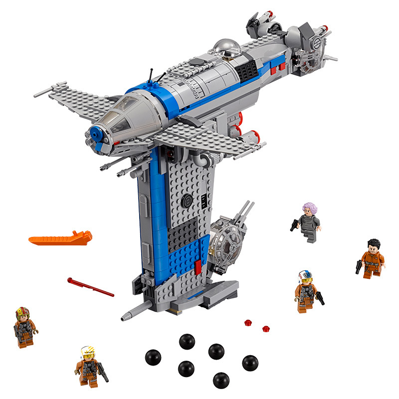 Lepin 05129 873Pcs Starwars Resistance Bomber Model Building Blocks Bricks Toys For Children Compatible with lego Starwars airplane 3d jigsaw laser cutting model puzzle educational diy toy