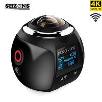 SHZONS V1 4K 360 Action Camera Wifi Panoramic Mini Camera 2448 2448 Ultra HD Panorama Camera