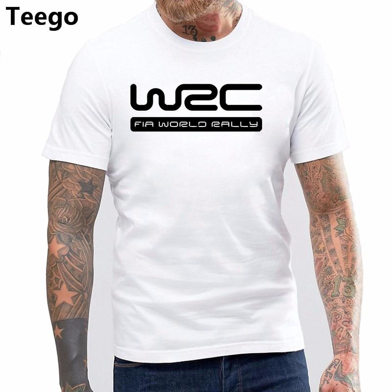 WRC FIA World Rally Championship Racing Game T-Shirt Short Sleeve Cotton