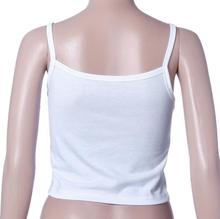 Women Tank Tops Cotton Blend Halter Bustier Bra  White