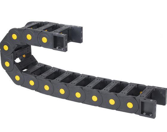 Hardware Offizielle Website 1 Meter Schleppkette Innere Größe 25*75mm Kabel Kette Nylon Dot Pin Towlline Offener Typ Drahtträger Ketten