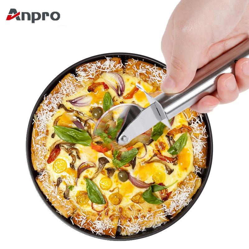 SunnyClover DIY Baking Tools Aluminum Alloy Pizza Baking Tray Round Shape Pizza Baking Pan Kitchen Supplies for DIY Making Use 1Pcs Black