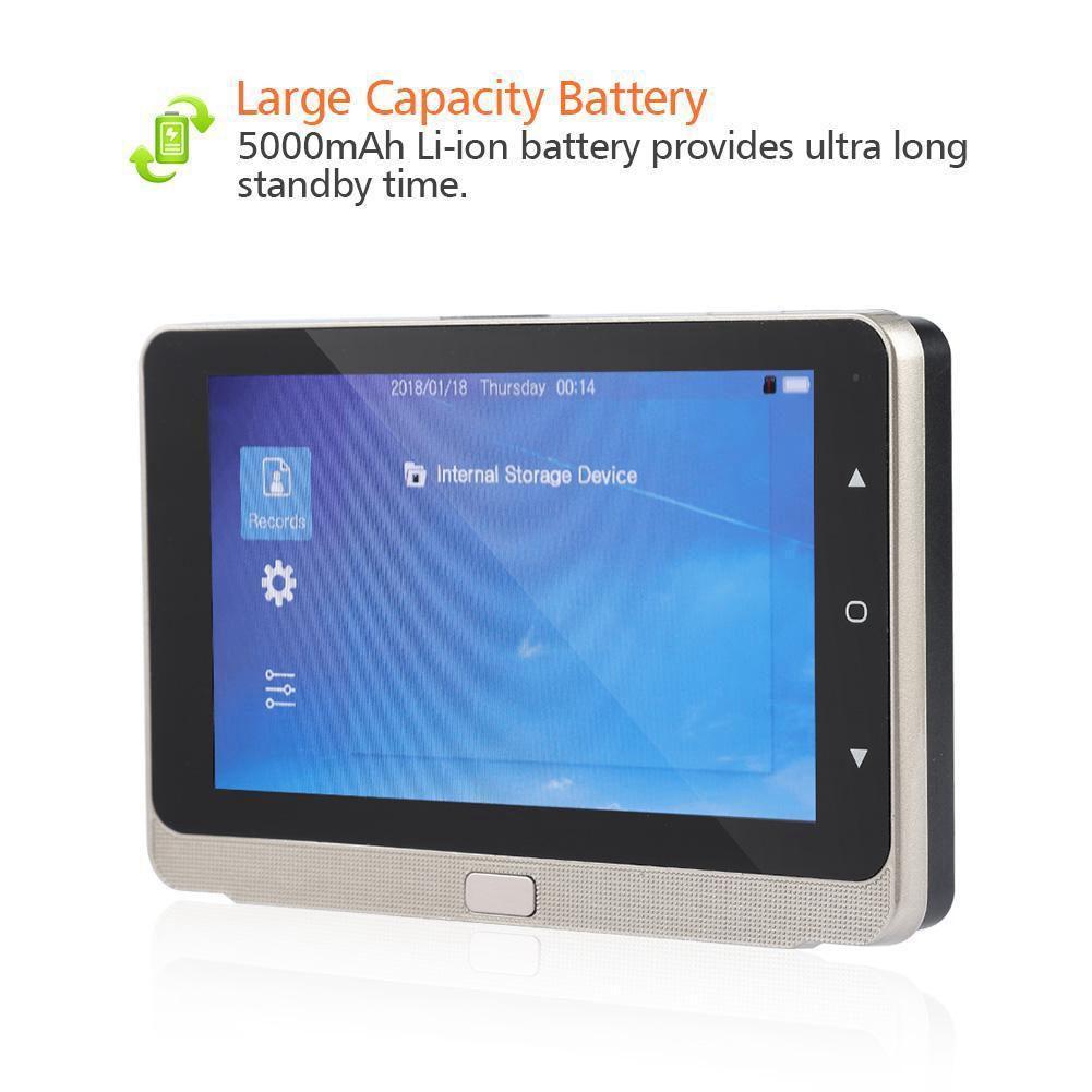 5.0 pouces OLED affichage couleur écran sonnette visionneuse numérique porte judas visionneuse caméra porte oeil vidéo enregistrement grand Angle 160 De - 6