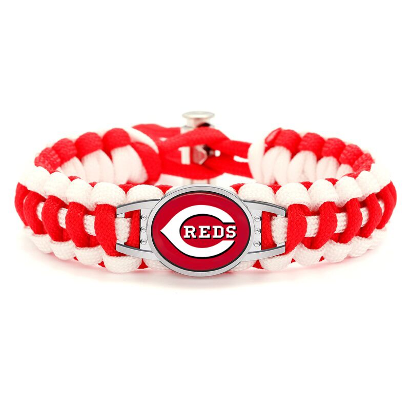 2018 New Arrival Cincinnati Reds Baseball Team Adjustable Paracord Survival Bracelet Jewelry Accessories Supplies 6pcs/lot