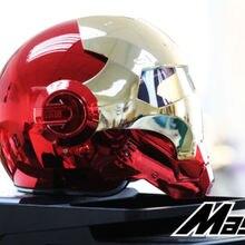 Masei bike scooter moto electroplate Red golden iron man helmet motorcycle