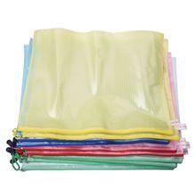 10 pces rede superfície a3 documento titular zíper saco multicolorido