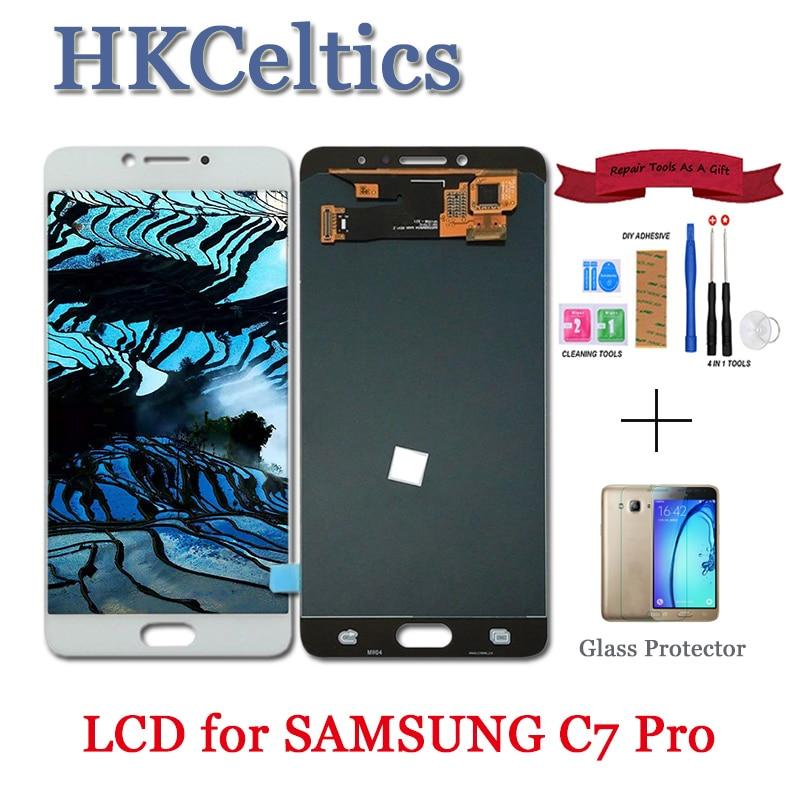 LCD probado para Samsung Galaxy C7 Pro C7010 pantalla LCD y pantalla táctil con marco digitalizador montaje c7 pro piezas de repuesto-in Teléfono Móvil LCD pantallas from Teléfonos celulares y telecomunicaciones on AliExpress - 11.11_Double 11_Singles' Day 1