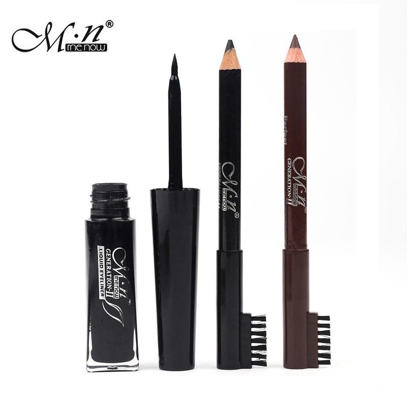 Menow Brand Eyebrow Enhancer eyeliner a sets of waterproof sweat is not easy to blooming Makeup beauty tools