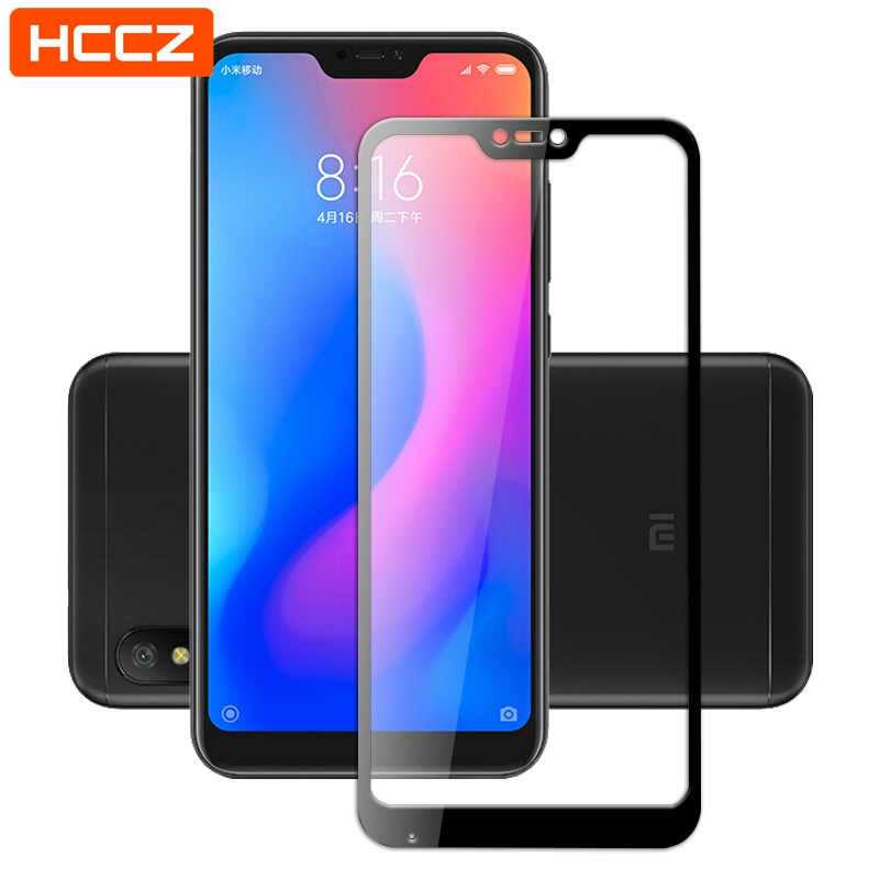 Mi A2 Lite Screen Protector for Xiaomi Mi A2 Lite Tempered Glass HCCZ High quality 2.5D 9H HD Full Cover Protective film(China)