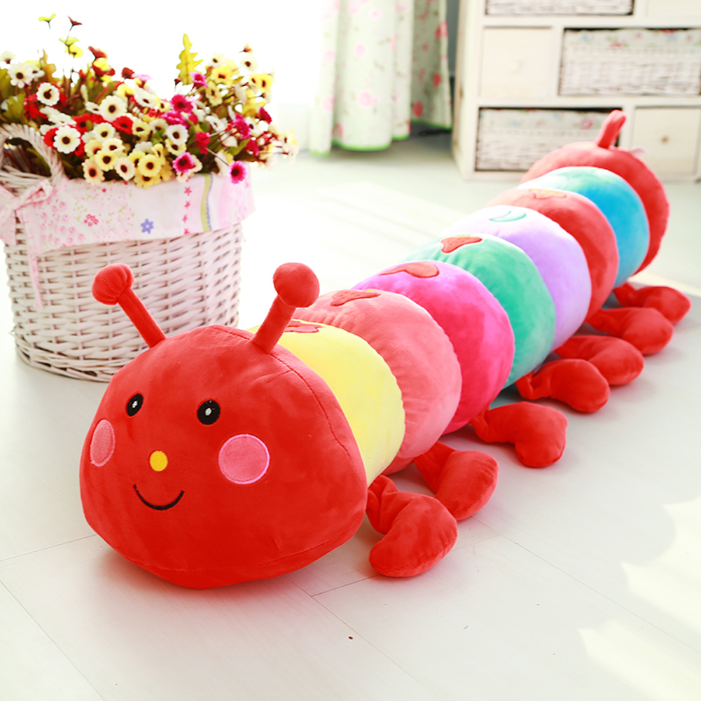 Lovely Baby Plush Doll Toys Large Colorful Stuffed Caterpillar Doll Baby Sleeping Back Pillow 55CM/70CM/90CM/110CM Long 4 Size all long size 30cm real picture wedding doll lovely plush toys small size rabbit mobile phone chain sucker toys
