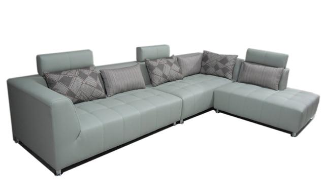 Free Shipping Classic Design Hot sale Leather L Shaped Corner sofa ...
