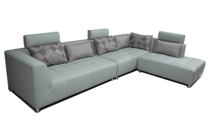 Free Shipping Classic Design Hot Leather L Shaped Corner Sofa Sectional Wich Cushions Chaise