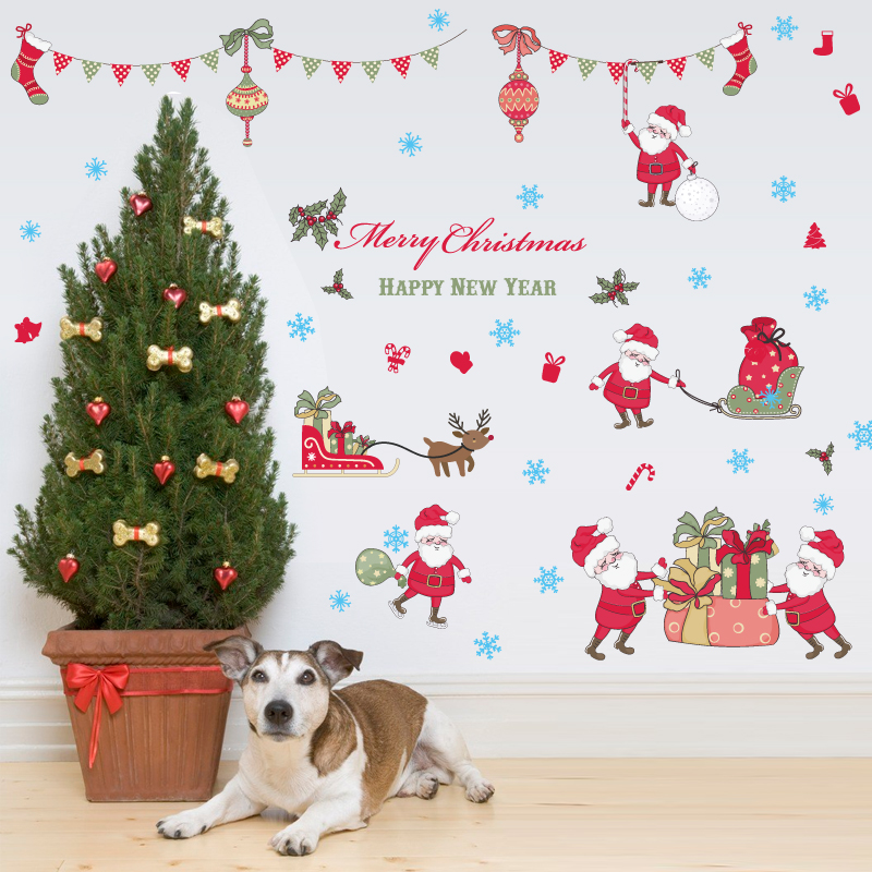 merry christmas window stickers diy vinyl wall stickers