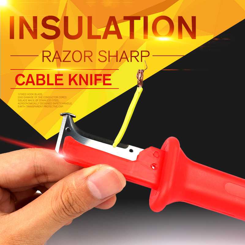 1pc Stripping Cutter Cable Electrical Insulation Stripping Knife Wire Stripper Electrician Hand Tools gr59 6 7 11 universal wire stripper multi purpose cable stripper cable wire jacket stripper cable cutter stripping scissors tool