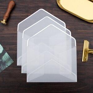 Image 3 - 20 pçs/set Transparente Envelope De Papel Hot Stamping Impressão Engrossar Envelope Envelope De Papel para Convite de Aniversário Scrapbooking