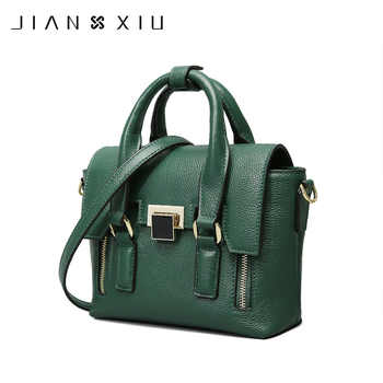 JIANXIU Brand Fashion Genuine Leather Bags Sac a Main Handbags Bolsos Mujer Bolsas Feminina 2018 Shoulder Crossbody Bag 2 Colors - DISCOUNT ITEM  44% OFF All Category