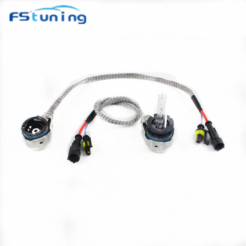 FStuning D2 AMP Adapter To D2S D2R HID Bulbs Holder Socket