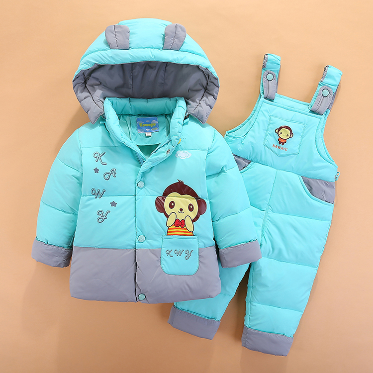 2017 new baby duvet suit 0-1-3-4 year old boys and girls baby winter clothing children down thick ski jackets2017 new baby duvet suit 0-1-3-4 year old boys and girls baby winter clothing children down thick ski jackets