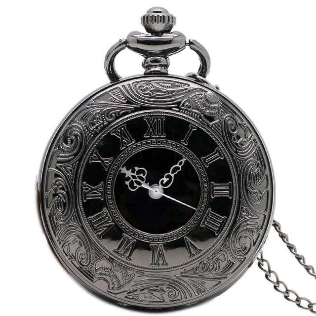 540bbdb51 vintage charm black unisex fashion r number quartz steampunk vintage charm  black unisex fashion r number