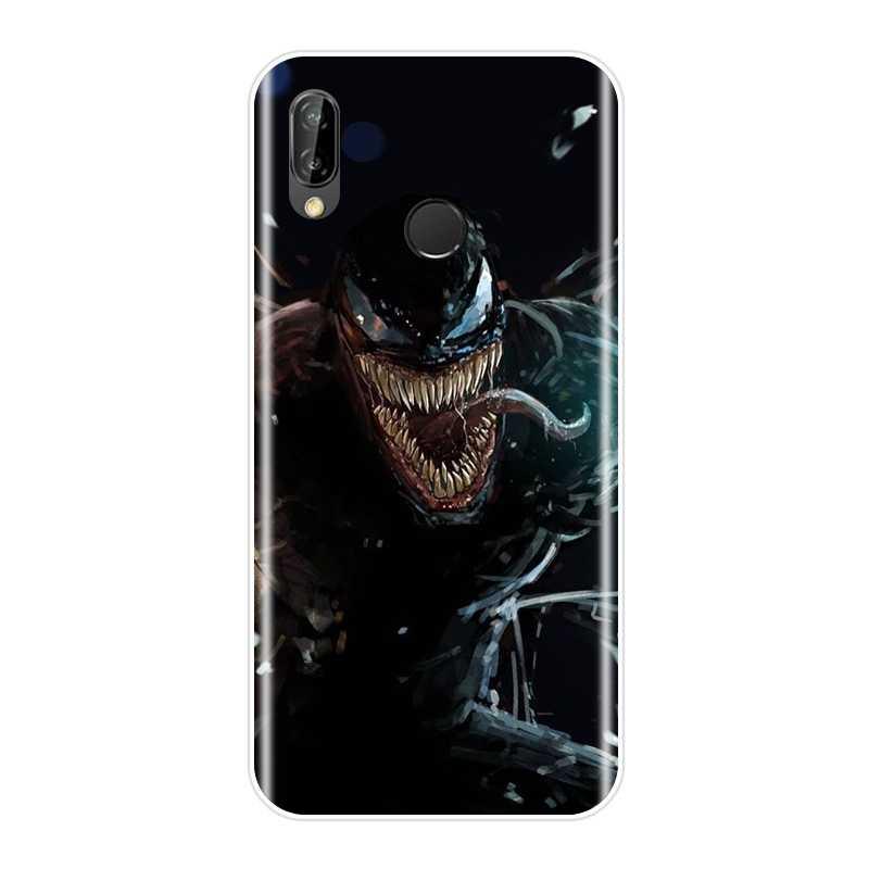 Marvel SuperHero Venom Della Copertura Posteriore Per Huawei P20 Lite Pro P9 P10 Più P Smart P7 P8 P9 Lite Mini 2017 Molle Del Silicone Cassa Del Telefono