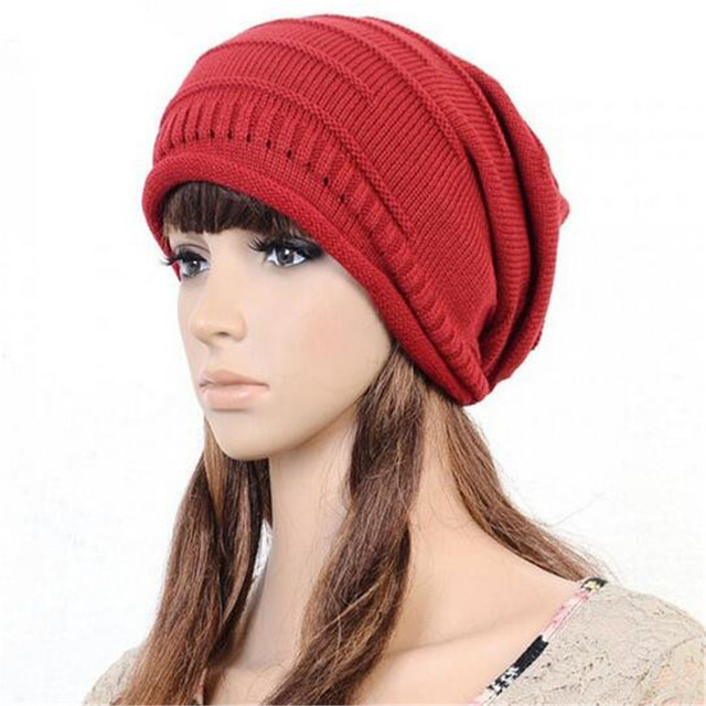 Hot Sale Unisex Knitted Hat Female Beret Buggy Cap Oversized Winter Hat  Women Accessory Unisex Men High Quality Gifts 80b8edfa4f7