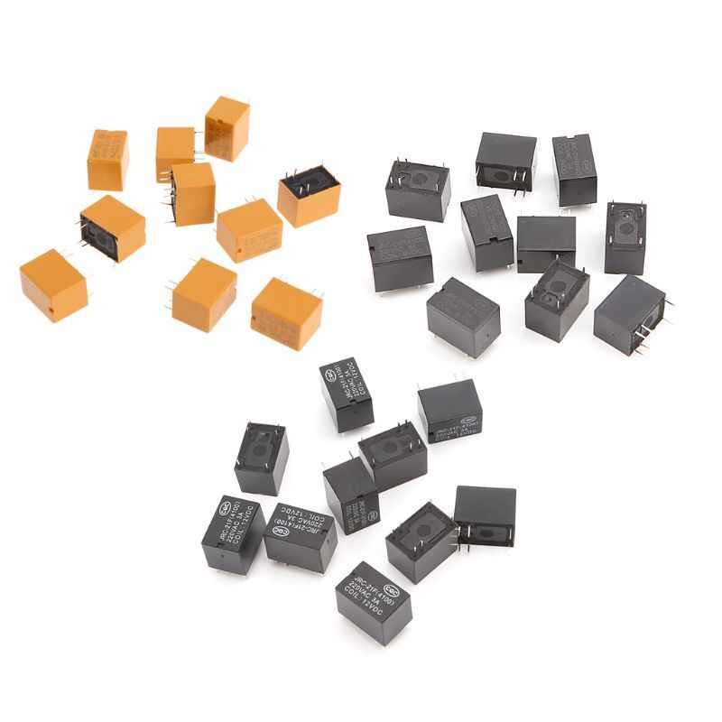 10pcs 6 JRC-21F 4100 DC Power Relay Mini-pin PCB Mount Placa de Circuito Relés 3V 5V 12V Mar28
