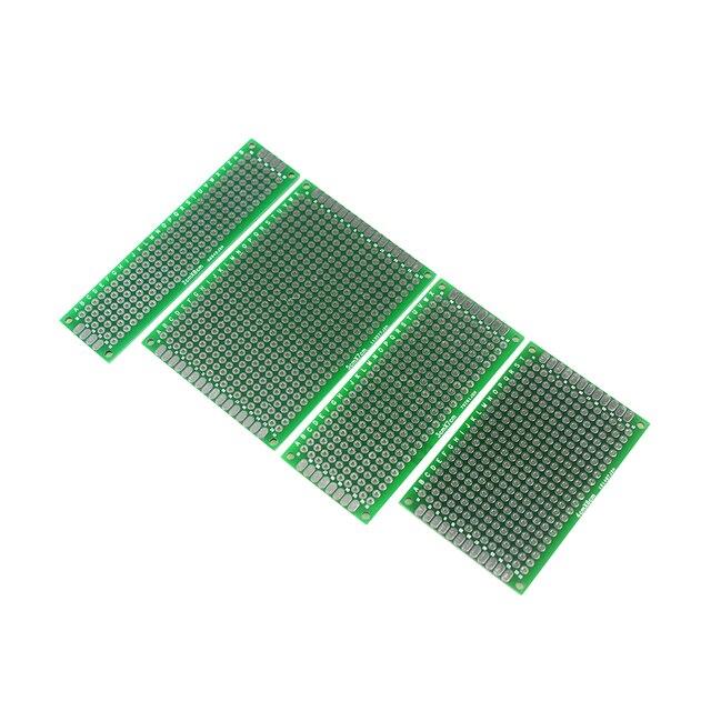 4Pcs 5x7 4x6 3x7 2x8cm Double Side Prototype Diy Universal Printed Circuit PCB Board Protoboard for arduino DIY KIT