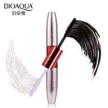 BIOAQUA Brand Double Ended White+Black 3D Fiber Mascara Waterproof Nourish Makeup Lash Rimel Curling Eyelash Extension Make Up
