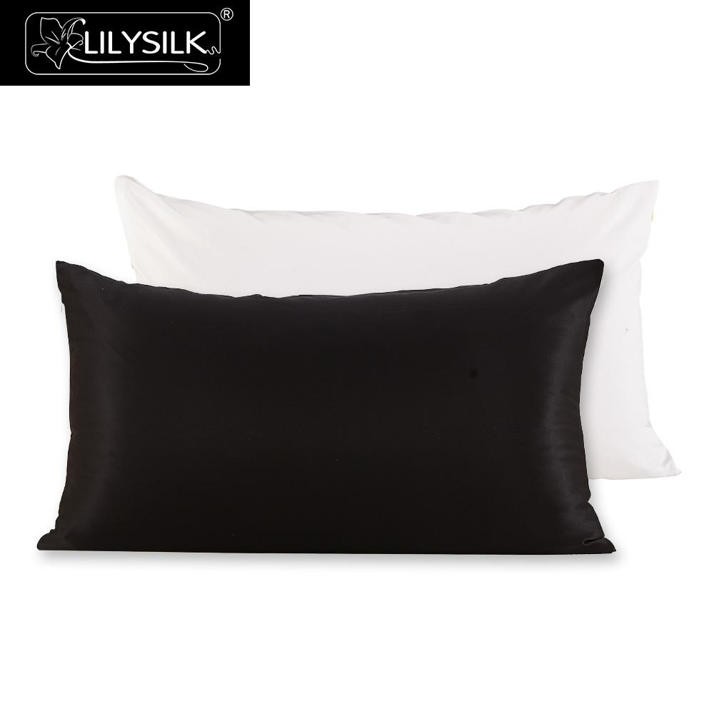 Lilysilk 100 Silk Cotton Pillowcase Hair Zipper Natural