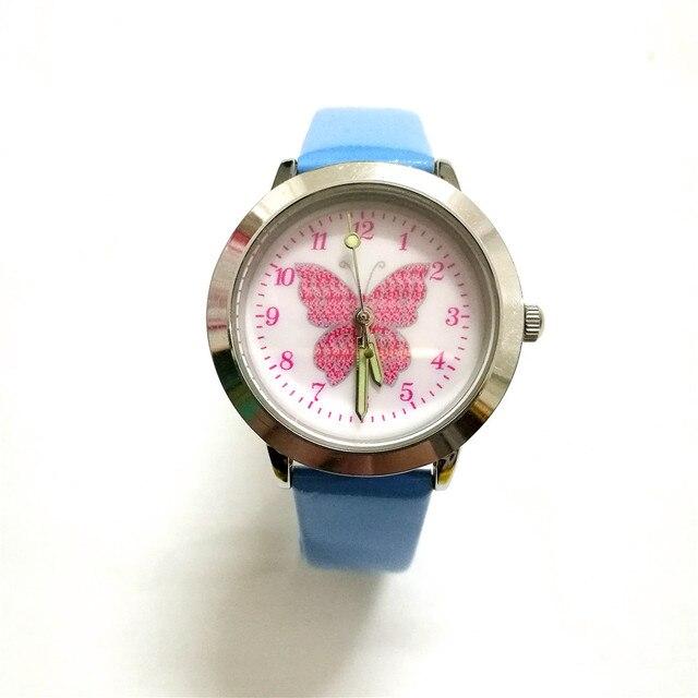 Studenti regalo per il Nuovo Anno per le ragazze orologi al quarzo di sport dei bambini cartoon farfalla per bambini della vigilanza relogio infanti Montre Femme