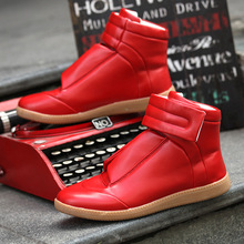 ZCHEKHEN HOOK Hip-hop dancing Party Dress Shoes Fashion Kanye west Boots soft Leather Trainers personality shoes zapatos hombre